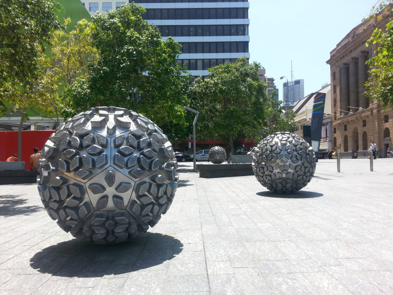 ball sculptures in brisbane CBD